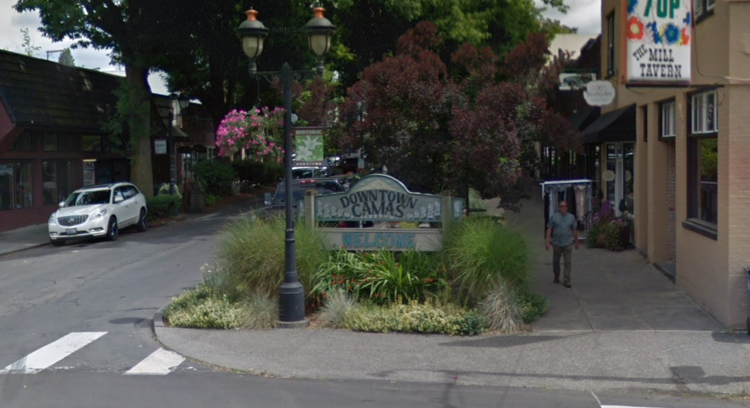 Downtown Camas Welcome Sign