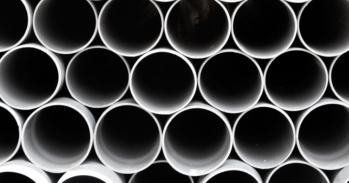 Sewer pipes stacked up